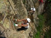 via-ferrata-ardeche-canyoning-location de canoe en ardeche